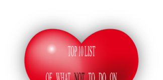 Top 10 Things Not to Do On Valentine's Day