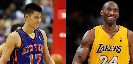 Jeremy Lin vs Kobe Bryant