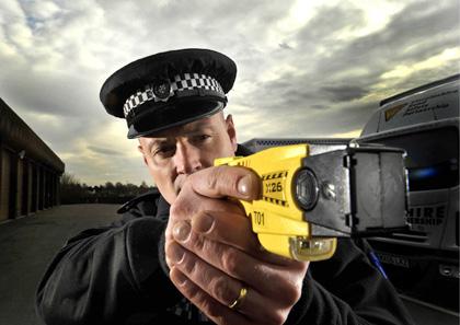 police taser Picture by Jon Corken
