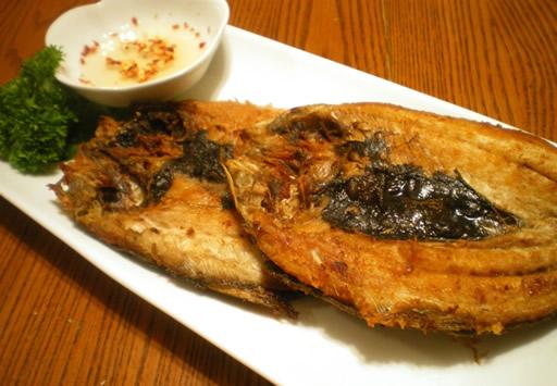 Fried Bangus or milkfish