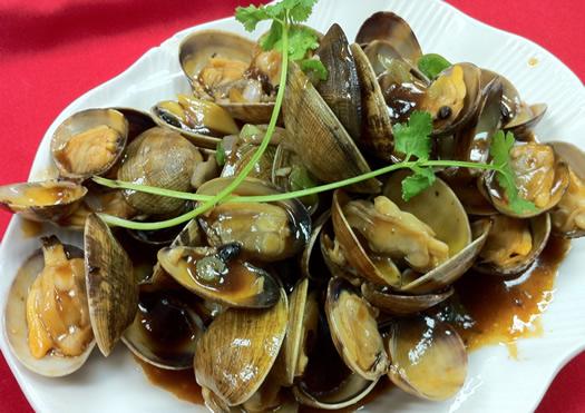 clams in black-bean sauce