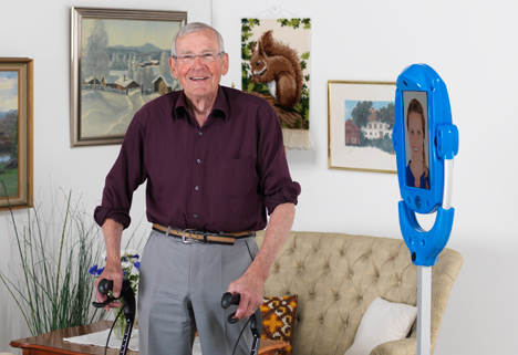Giraff robot for seniors
